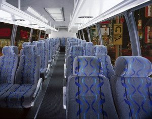 San Diego Shuttle bus interior