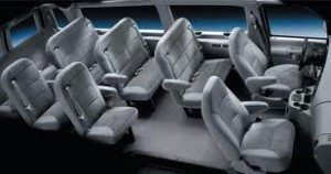 San Diego van service seating