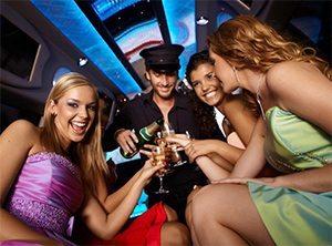 San Diego Bachelorette limousine stripper