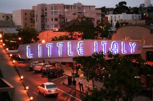Little Italy San Diego, View on Sign