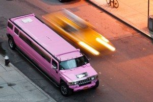 pink h2 hummer limo service
