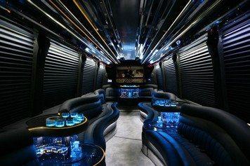 San Diego Passenger Limo Bus Interior