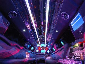 san diego 50 passenger party bus rental interior