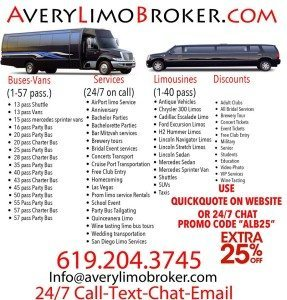 Party Bus Rental San Diego Best Rates